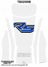 BMW R1200RS 2015 16 White Blue Motorcycle Tank Pad Motografix 3D Gel Protector