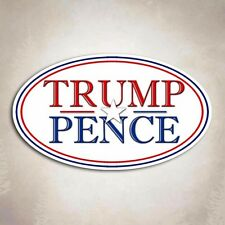 Small Trump Pence - Republican President Oval Bumper Sticker GOP Decal
