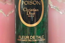 100% AUTHENTIC HUGE DIOR POISON PERFUMED FLEUR De TALCUM TALC POWDER MOST RARE