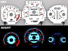 96-00 EK Honda Civic EX EL Glow Gauge Gauges White Face Reverse AT Night Glow
