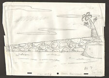 "Flintstones Animation Art - Background ""Rock Rockstone"" BG 7 Scene 6"