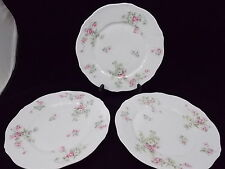THEODORE HAVILAND LOT DE 3 ASSIETTES Ø 25 CMS DECOR DE BOUQUETS FLEURIS