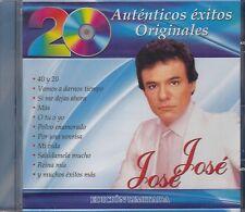 Jose Jose 20 Autenticos Exitos Originales CD New Nuevo sealed