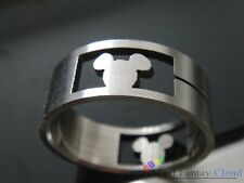 Kingdom Hearts KH concave Mickey head Stainless Steel Ring Anime Cosplay S1