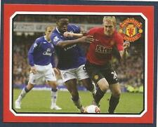 PANINI MANCHESTER UNITED 2008/09 #194-DARREN FLETCHER IN ACTION V EVERTON