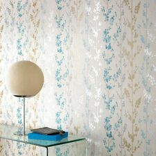 Superfresco Easy Paste The Wall Berries Teal/Gold Metallic Wallpaper