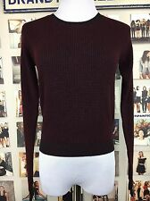 Brandy Melville Maroon Burgundy Ribbed pullover Knit Sweater Nwt