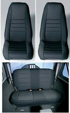 Jeep Wrangler TJ 1997-02 Neoprene Black Front And Rear Seat Covers  Rugged Ridge