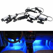 DIY 4in1 Blue LED Car Charge 12V Glow Interior Floor Neon Decor Atmosphere Light