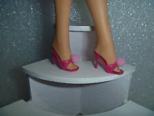 Barbie Shoes - Almost Vintage Spike Heel OT Slipper Sandals in Bold Raspberry