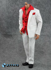 1/6 ZY-toys  white suit and red shirt  + Scarface Al Pacino  for figure Hobbies
