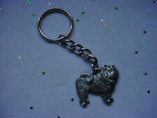 CHOW CHOW Dog PEWTER Silver DOG KEYCHAIN CHRISTMAS ORNAMENT Key Chain Ring NEW