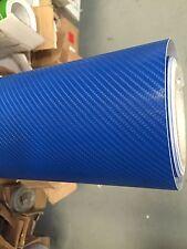 Di alta qualità 4d BLU IN FIBRA DI CARBONIO Avvolgere Vinile Foglio Adesivo Pellicola 30cm x 1.52m.