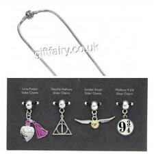 New Official Genuine Harry Potter Silver Plated Slider Charm Set & Necklace