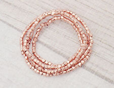 Karen hill tribe Rose Gold  Vermeil Style  120 Faceted Beads 1.5 mm.