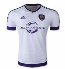 NEW ADIDAS MLS ORLANDO CITY AUTHENTIC PLAYER AWAY SOCCER JERSEY~LARGE~ #S00407