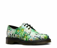 NEW Womens Dr. Martens 1461-3 Eye Shoe Green Paint UK 7  Womens 9