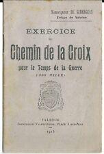 Exercice du chemin de la croix guerre 1914 1918 poilu religion messe église WW1