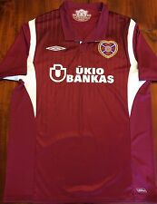Umbro Heart Of Midlothian 2009-2010 Home Soccer Jersey Men's L Scotland