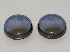 "Motorcycle Set of 2 Smoke Turn Signal Lens Covers Lens 3/8"" For Harley Davidson"