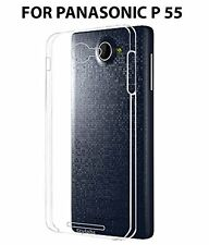 Premium Soft Silicone TPU Clear Back Case Cover For Panasonic P55 - Transparent