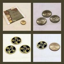 Double Face Super Triple Coin (DVD + Gimmick) - Magic trick,Coin Magic Props