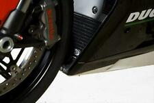 R&G RED RADIATOR GUARD for DUCATI 848, 2008 to 2014