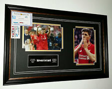 *** RARA Steven Gerrard di Liverpool Firmata FOTO Display *** ADDIO