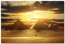 "Egyptian pyramids Silk Poster Travel Landscape Picture Amazing Sunset 24x36"" 01"