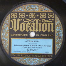 "78rpm 12"" OLGA HALEY schubert ave maria / gretchen am spinnrade K 05257"