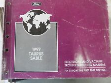 1997 Ford Taurus Sable Electrical Wiring Diagrams Service Manual Factory OEM