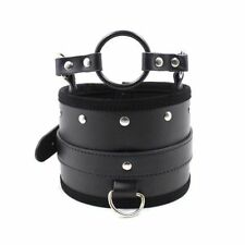 Posture Collar With O-Ring Gag - bondage kinky fetish restraint slave sexy