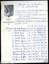 Bourbon-Lancy . image pieuse. composition de Catéchisme . 1920