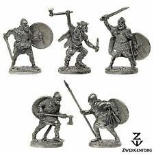 Tin Toy SOLDIERS Set VIKINGS Warriors NORSE Raiders BARBARIANS Metal Tin Figures
