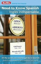 Need to Know SpanishIngles Indispensable (English and Spanish Edition)