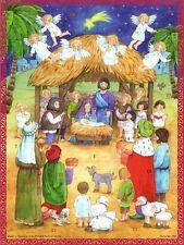 Richard Sellmer Verlag - Traditional German Paper Advent Calendar - Nativity