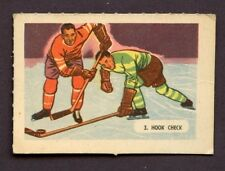 1946 KELLOGG'S ALL- WHEAT HOCKEY CARD SPORT - TIPS # 3 HOOK CHECK