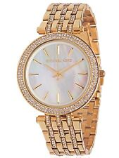 BRAND NEW WOMENS MICHAEL KORS (MK3219) DARCI GLITZ GOLD TONE DIAL WATCH