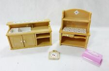 Vintage epoch dollhouse furniture miniatures kitchen sink and hutch