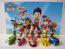 NICKELODEON PAW PATROL 12 PC Deluxe Figure Toy Play Set Ryder 6 Dogs 5 Cars