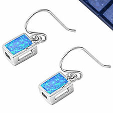Blue Australian Opal .925 Sterling Silver Earrings .75""