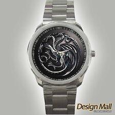 Game of Thrones GOT House Targaryen Dragon Custom Designer Sport Watches