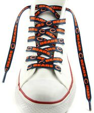 "Chicago Bears Team Logo Colors 54"" Shoe Laces One Pair Lace Ups NFL"