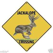 "Jackalope Metal Crossing Sign 16 1/2"" x 16 1/2"" Diamond Shape made in USA #127"