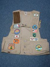 VINTAGE BOB ALLEN HUNTING VEST with PATCHES & MORE SIZE XL