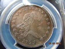 1795 FLOWING HAIR HALF DOLLAR, PCGS GRADED AU, O-131, HIGH R-4, BEAUTIFUL COIN!