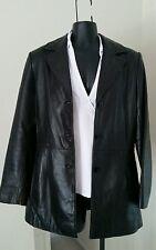 Nine West Winter Coat Women Soft Black Leather Lined Jacket Sz S Make Offer OBO