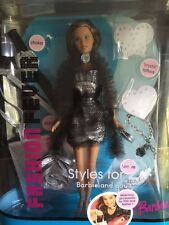 Barbie Fashion Fever New dark skin Teresa doll Styles for 2 tattoo barrette 2005