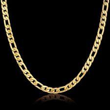 18 Quilates Cadena De Oro bañado en plata Collar Acero Inoxidable Mujer Hombre