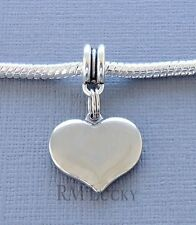 ONE Stainless steel Charm Pendant Dangle HEART Fits European Charm Bracelet C20